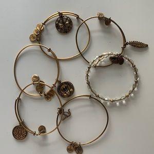 Six Alex and Ani Bracelets